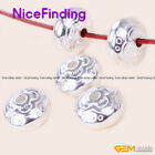Tibetan bright Low Carved Silver Jewelry Making Design  Craft Finding DIY 10 Pcs