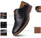Men's Casual Leisure Leather Lace-Up Dress Shoes Round Toe Business Dress Shoes