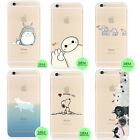 Cutie Series Transparent Soft TPU Case Cover For iPhone 6s 6s Plus SE 5s 5