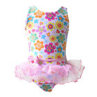 Kids Flower girls Swimsuit Swimwear for 2-8 Age Onepiece Lace Bow Bathing Tutu