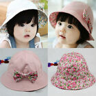Cute Bow Flower Toddlers Baby Girls Summer Sun Hat Double Faced Princess Cap YG