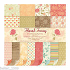 First Edition 6x6 Premium Paper Pad - FLORAL FANCY - Free UK p&p Cardmaking