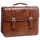 McKlein USA V Series Flournoy Leather Double Non-Wheeled Computer Case NEW