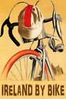 BICYCLE IRELAND BY BIKE CYCLING SPORT TRAVEL VINTAGE POSTER REPRO
