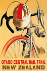 BICYCLE OTAGO CENTRAL RAIL TRAIL NEW ZEALAND CYCLING BIKING VINTAGE POSTER REPRO