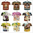 Fashion Women Men Dragon ball z Goku Super saiyan 3d print Short Sleeve T-Shirt