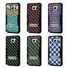 For LG K7 TUFF Hybrid Stand Rubber Hard Case Black Black 7Colors