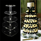 3-7 Tier Crystal Acrylic Cupcake Stand Heart Shape Wedding Party Tableware Decor