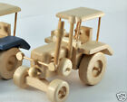 Wooden Retro Tractor Car Automobile Natural Wood Toy Toys Gift Handmade Trecde-3