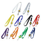 Adjustable Lanyard Business Badge ID Card Holder Smile Face Pattern Strap 4PCS
