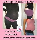 Cotton MATERNITY BELLY BANDS *3 Styles from $8.75 *Australian Business TummyWrap