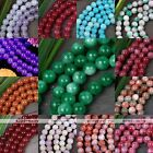 8mm Gemstone Natural Jade Dyed Loose Round Ball Bead Jewellery Making DIY 15.5''
