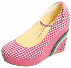 Dancing Days KORA Vichy Pepita Riemchen MELON Keilsabsatz WEDGES Rockabilly