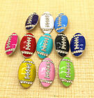 Rugby Rhinestone Chunk Snap Button fit for Noosa Necklace Bracelet earring ring