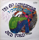 JED FORD I'm So Lonesome I Could Cry LP Lucky LUS3019  Autographed Sleeve EX