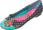 Dancing Days ISABELLA Vintage POLKA DOTS Strawberry BALLERINAS Rockabilly