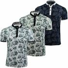 Mens Floral Polo T-Shirt by D-Rock Short Sleeved