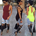 Chic Women Sexy Backless Tops Summer Sleeveless Casual Blouse Shirts T-shirts