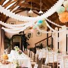 New Clovers Paper Garland Wedding Marriage Room Layout Birthday Party Decor LA