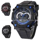SHHORS Mens Digital 12/24 Hours Date Day Alarm Rubber Quartz Wrist Watch Gift
