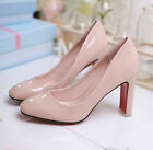 2016 New Fashion Woman Simple Solid color high-heeled white-collar Work shoes