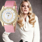 Casual Women's Crystal Analog Stainless Steel Quartz Dial Round Wrist Watch Gift