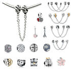 Safety Chain European Silver charms Beads For S925 Bracelet/Necklace Chains US