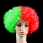 Disco Rainbow Flag Afro Clown Hair Football Fan Adult Child Costume Curly Wig