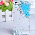 Bling Diamond crystal butterfly clear ultra-thin Soft TPU back case skin cover I