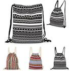Outdoor Drawstring Canvas RuckSack/Bag/Sack/Backpack Swim/School/Book/Sports LA