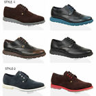 Mens boys firetrap casual faux leather brogue smart lace up work shoes size