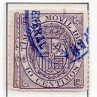 Spain Fiscal Timbre Movil 1882-1903 Early Issue Fine Used 10c. 060085
