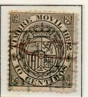 Spain Fiscal Timbre Movil 1882-1903 Early Issue Fine Used 10c. 060082