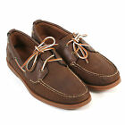 Timberland Men's Heritage 2-Eye Boat 6306A Leather Lace Up Shoe Dark Brown