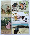5 Different PHOTOGRAPHER, CAMERA, PHOTGRAPHY Postcards 1909 to 1930's