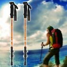HOMDOX 2Pcs Aluminum Alloy Adjustable Trekking Hiking Mountain Sticks Pole B20E