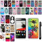 For Alcatel One Touch Evolve 5020T TPU SILICONE Soft Protective Case Cover + Pen