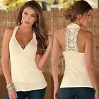 Fashion Women Summer Vest Top Blouse Casual Tank Tops Lace T-Shirt Sleeveless B2