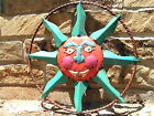 Iron Art Sun Face Garden Sign 0634