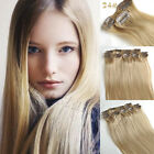 #24 Natural Blonde 7pcs/set Clip In Full Head Remy Human Hair Extension