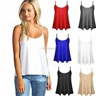 New Womens Sleeveless Cotton Tank Tops T-Shirt Swing Vest Flared Leisure Shirt