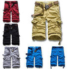 New Men's Casual Army Cargo Combat Camo Camouflage Overall Shorts Sports Pants