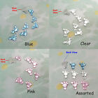 500 to 5000 Acrylic Baby Feet Rhinestone Craft Scrapbooking Pink Clear Blue