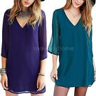 2016 Women Short Sleeve Summer Cocktail Evening Party Sexy Backless Dress A1X8