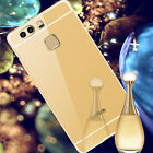 Luxury Aluminum Metal Bumper + Acrylic Mirror Back Case Cover For Huawei P9 Case