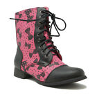 IRON FIST WOMENS BOWED OVER COMBAT FASHION BOOT