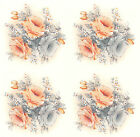 Ceramic Decals Peach & Grey Rose Bouquet & Bits Floral Flower image