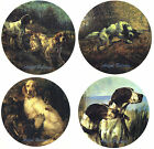 Ceramic Decals Hunting Dog Scenes Plate Size Animal image