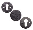 Black Antique Cast Iron Flat Escutcheon Key Hole Door Lock Furniture Cover