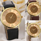 Fashion Women Watch Glitter Dial Leather Band Analog Ladies Quartz Wrist Watch